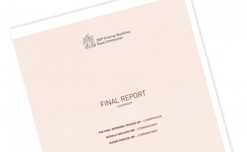2009 victorian bushfires royal commission report