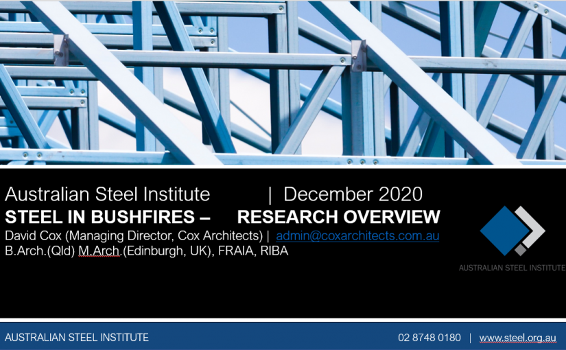 steel in bushfires webinar